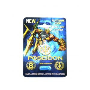 Poseidon Platinum 3500 Male Sexual Performance  Enhancement - Single