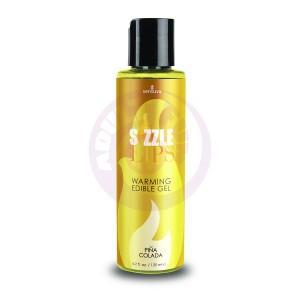 Sizzle Lips Warming Edible Gel - Pina Colada - 4.2 Fl. Oz. / 125 ml
