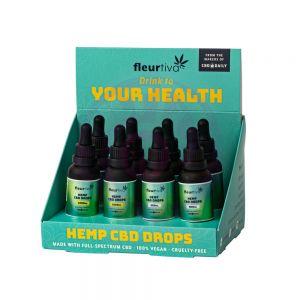 Fleurtiva Hemp CBD Drops 8pc Display