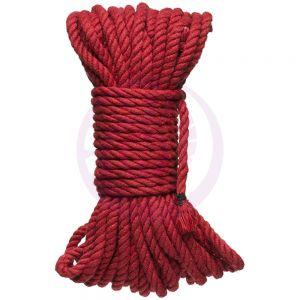 Hogtied - Bind & Tie - 6mm Hemp Bondage Rope - 50 Feet - Red