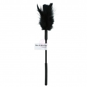 Sex and Mischief Feather Tickler - Black