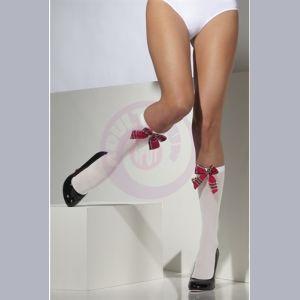 Opaque Knee High Socks - White