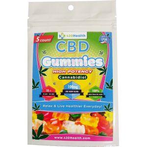 420 Health Hemp Gummies - 5ct - 100mg  20mg Per Serving