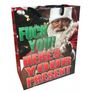 Fuck You! Here's Your Present X-Mas - Gift Bag