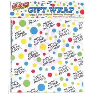 X-Rated Birthday Gift Wrap - 2 Sheets