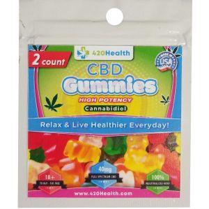 420 Health Hemp Gummies- 50 Count Bulk Box - 2 Pack Gummies