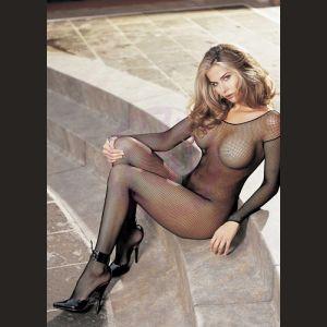 Fishnet Body Stocking - One Size - Black