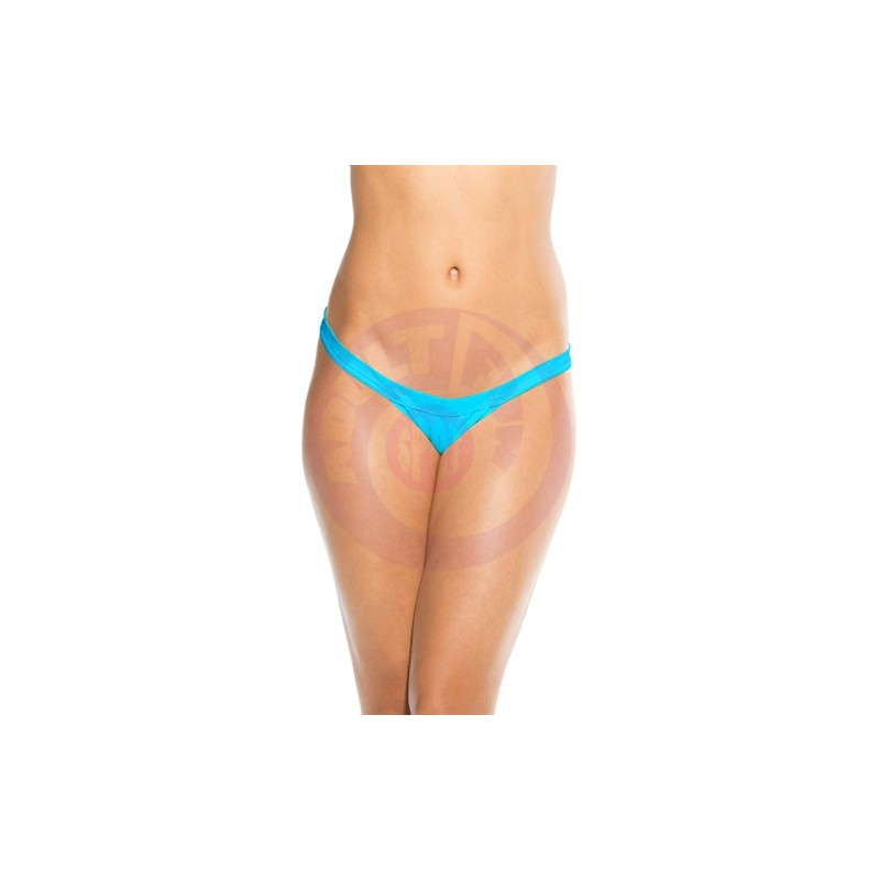 Wide Strap Panty  - Turquoise - One Size