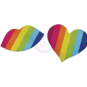 Nipplicious - Rainbow Nipple Pasties - Hearts and Lips