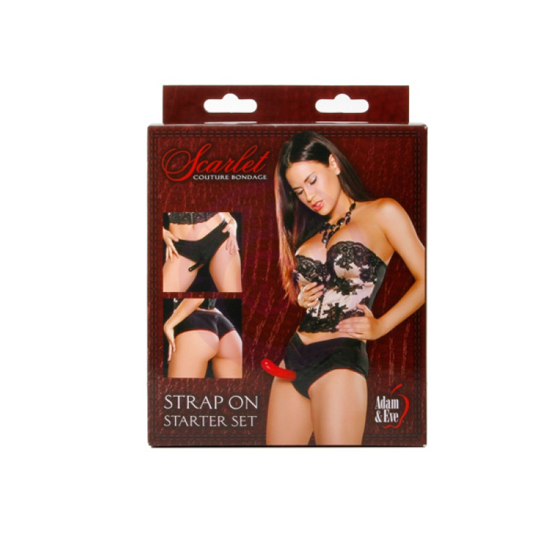 Adam and Eve Scarlet Couture Strap-on Starter Set