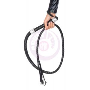 Rhinestone Handle Whip