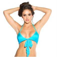 Bow Front Top - Turquoise - One Size