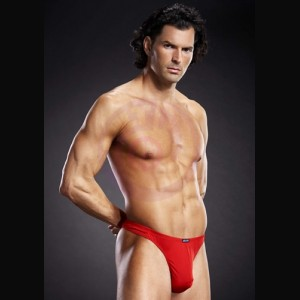 Performance Microfiber Thong - Red - Large-Extra