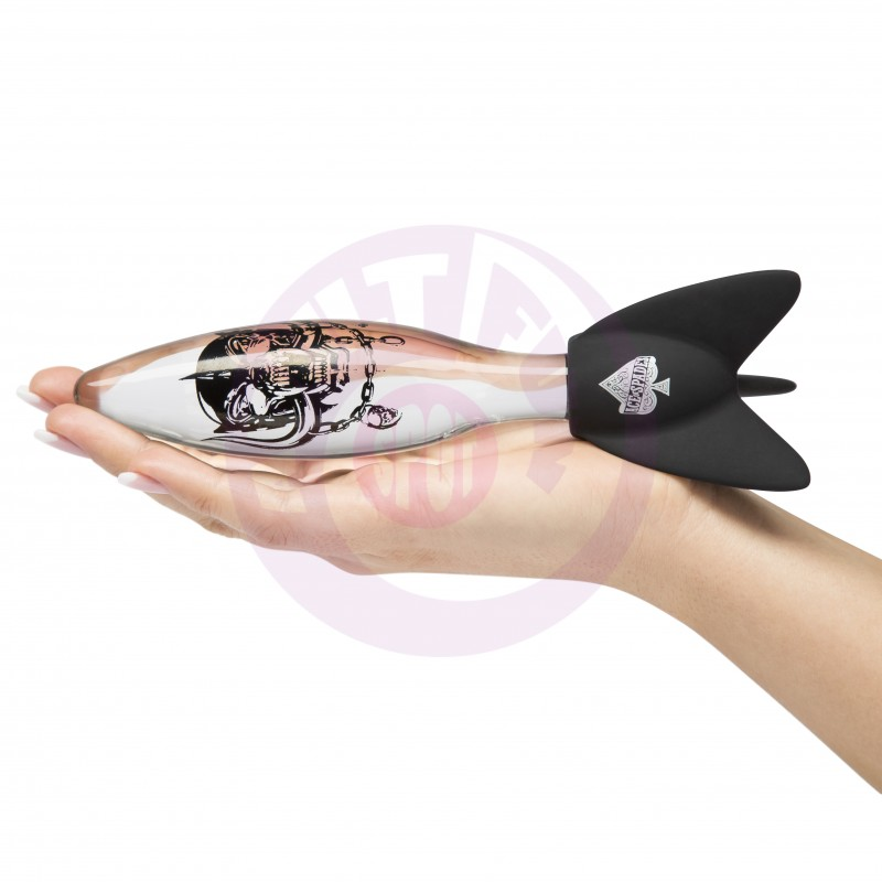 Motorhead Bomber Rock Hard Massage Missile - Clear & Black
