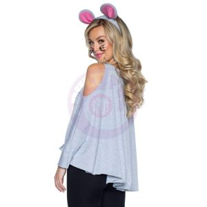 2 Pc Mouse Costume Poncho Set - One Size
