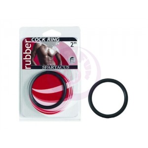 """Rubber Cock Ring 2"""" - Black"""