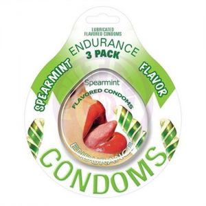 Endurance Condoms - Spearmint - 3 Pack