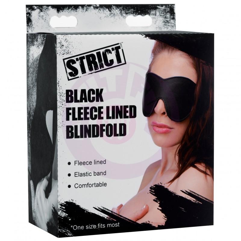 Black Fleece Lined Blindfold
