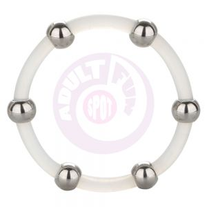 Steel Beaded Silicone Ring - X-Large