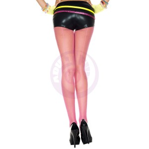 Backseam Fishnet Pantyhose - One Size -  Fuchsia