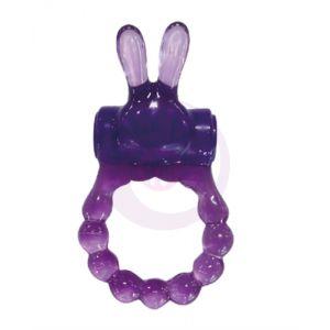 Vibrating Bunny Ring - Purple