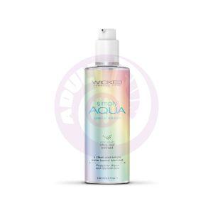 Simply Aqua Water Based Lubricant - 4 Fl Oz/ 120ml Special Edition