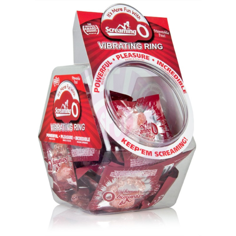 The Screaming O Vibrating Ring - 48 Piece Fishbowl