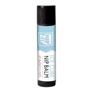Nip Zip Ice Cube Nip Balm - Strawberry Mint - Tube Carded