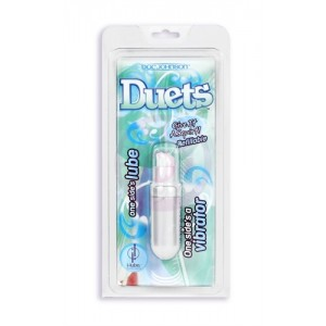 Duets - Vibe and Lube Combo -  Pearl White