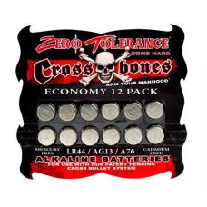 Crossbones LR44 Alkaline Batteries - Economy 12 Pack