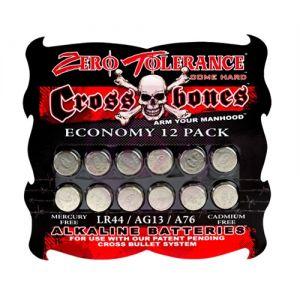 Crossbones LR44 Alkaline Batteries - Economy 12 Pack