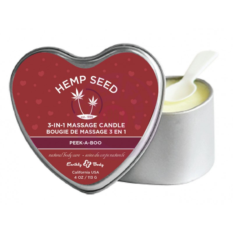 3 in 1 Massage Candle - Peek-a-Boo 4 Oz