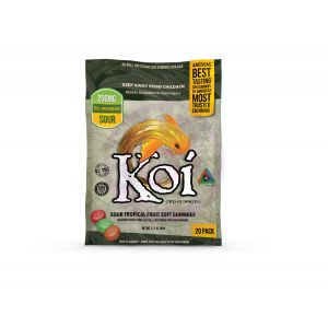 Koi Sour Tropical Fruit Gummies - 20 Pc. Bag  -  Each
