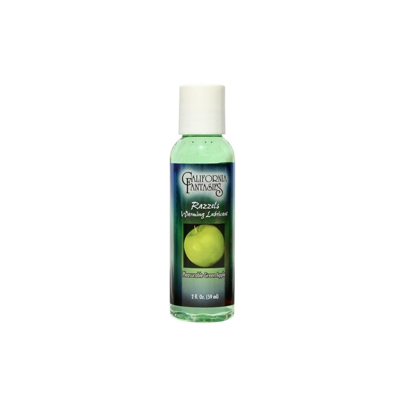 Razzels Warming Lubricant - Pleasurable Green Apple - 2 Oz. Bottle