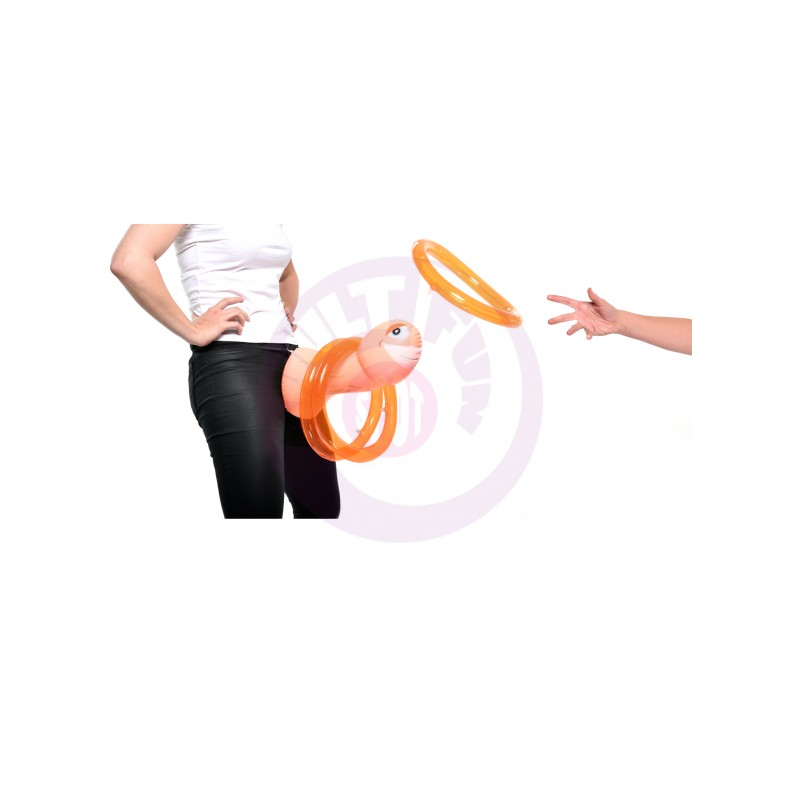 Mr. Party Pecker Inflatable Strap on Ring Toss Game