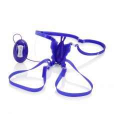 7-Function Silicone Love Rider Butterfly  Kiss - Purple