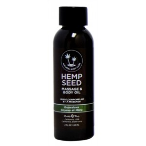 Hemp Seed Massage Oil - 2 Fl. Oz. - Guavalava