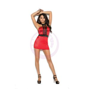 Caged Mini Dress - Red - Large