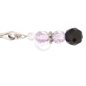 Adjustable Clit Clamp With Purple Beads