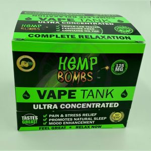 Hemp Bombs 125mg Hemp Vape Tank Cartidge - Crushed Pineapple Paradise 6 Ct Display