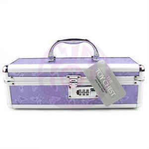 Vibrator Case Lockable - Purple