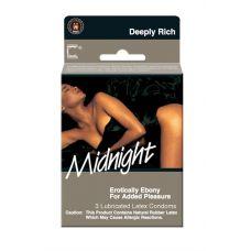Contempo Midnight Lubricated Condoms - 3 Pack