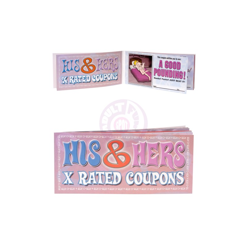 Display His + Hers X Rated Coupons - 36pcs