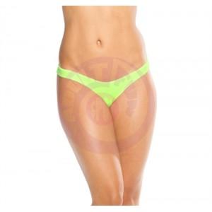 Scrunch Back Bikini Bottom - Neon Green - One Size