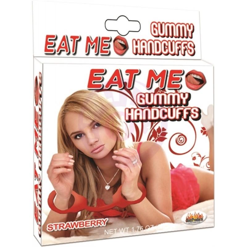 Eat Me Gummy Hand Cuffs - Strawberry