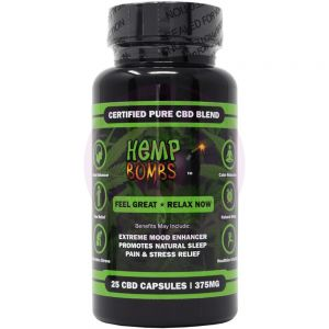 Hemp Bombs Capsules 25 Ct Bottle 375mg