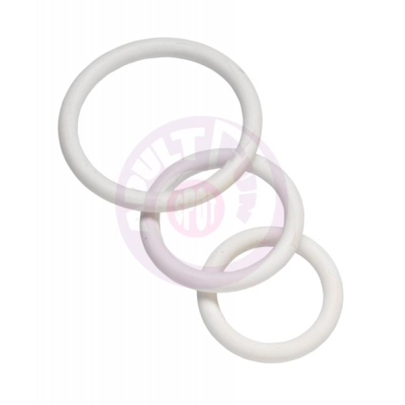 Nitrile Cock Ring Set - White