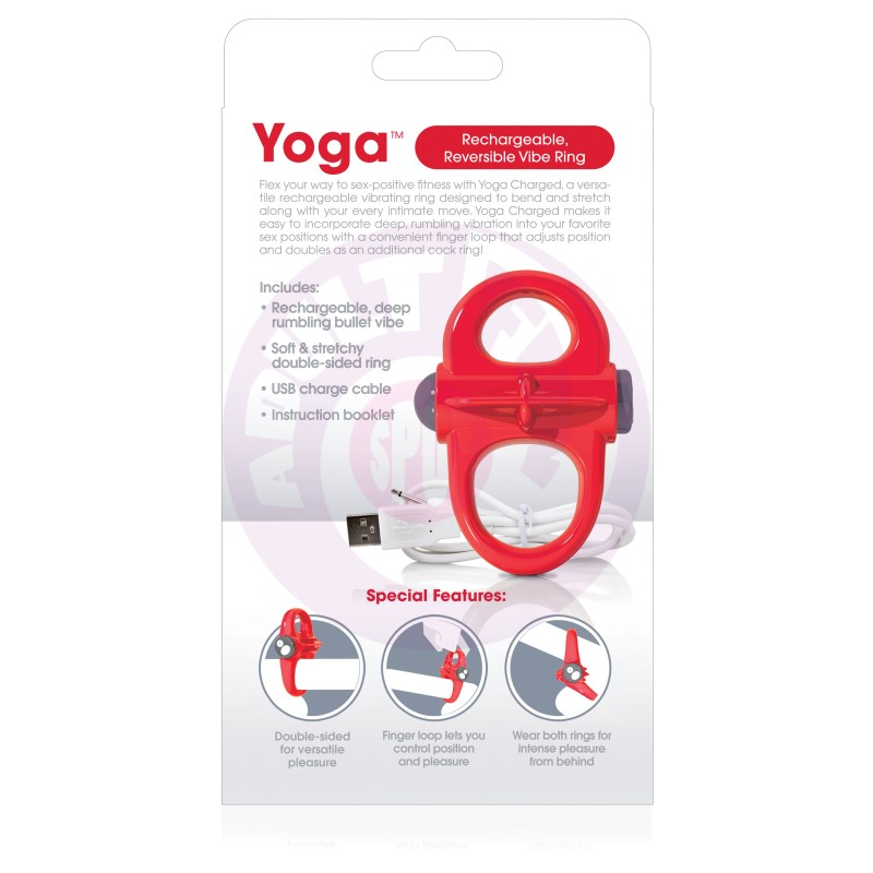 Charged Yoga Rechargeable Vibe Ring - Red