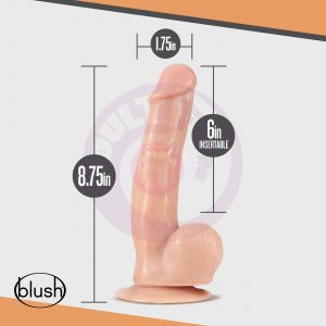 Dr. Skin - Dr. Spin - 8 Inch Gyrating Realistic Dildo - Vanilla