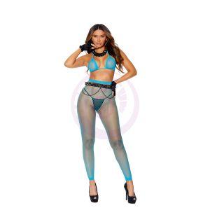 Diamond Net Bra Top and Matching Leggings